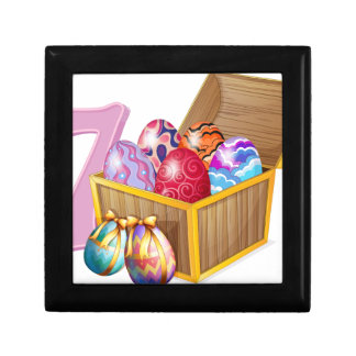 Seven Easter eggs Jewelry Box