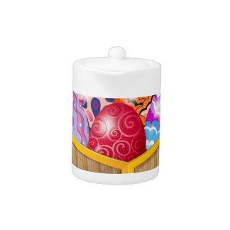 Seven Easter eggs Teapot