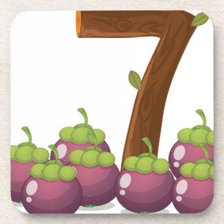 Seven eggplants beverage coaster