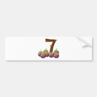 Seven eggplants bumper sticker