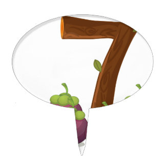 Seven eggplants cake topper