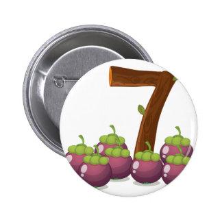 Seven eggplants pinback button