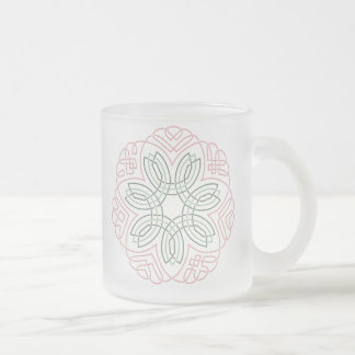 Seven Flower Knot 10 Oz Frosted Glass Coffee Mug