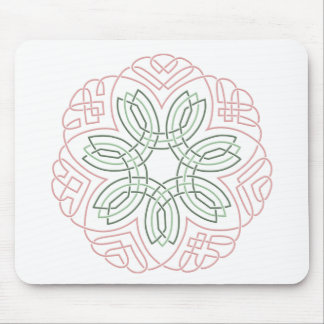 Seven Flower Knot Mouse Pad
