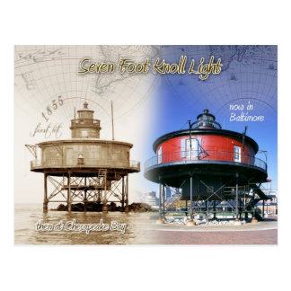Seven Foot Knoll lighthouse, Maryland Postcard