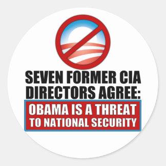 Seven Former CIA Directors Classic Round Sticker