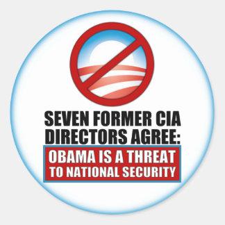 Seven Former CIA Directors Round Sticker