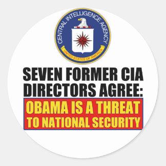 Seven Former CIA Directors Round Stickers