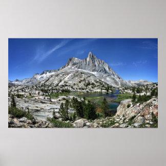 Seven Gables Over Seven Gables Lakes - Sierra Poster