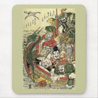Seven Gods of Good Fortune Hokusai Fine Art Mouse Pad
