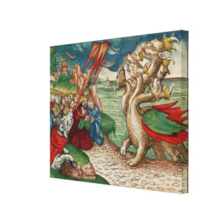 Seven-headed serpent from the Book of Canvas Print