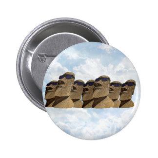 Seven Hip Moai - Round Button