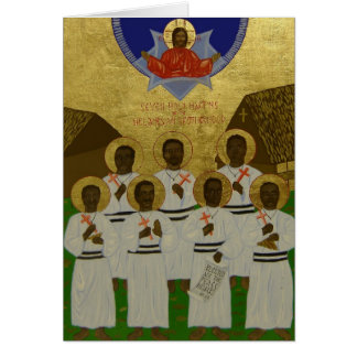Seven Holy Martyrs of the Melanesian Brotherhood Stationery Note Card