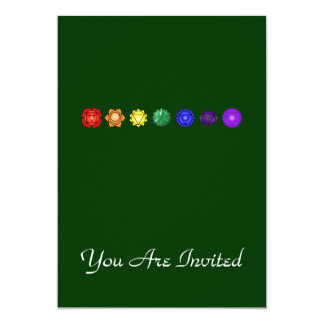 Seven Horizontal Chakras Card