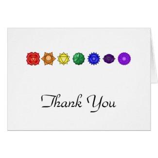 Seven Horizontal Chakras Thank You Card
