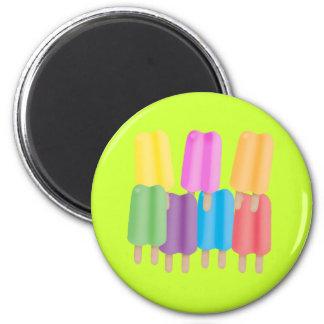 Seven Ice Pops Fridge Magnet