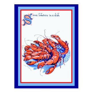 Seven Lobsters Post Card