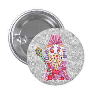 Seven luck God/寿 old person can badge Pinback Button
