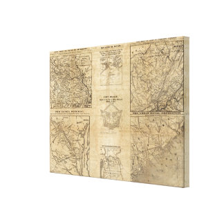 Seven maps from the New York Herald Canvas Print
