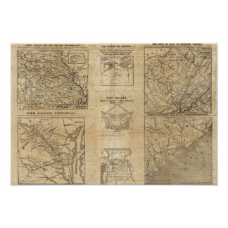 Seven maps from the New York Herald Poster