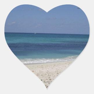 Seven Mile Beach Heart Sticker