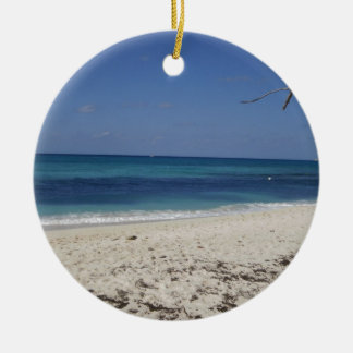Seven Mile Beach Double-Sided Ceramic Round Christmas Ornament