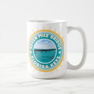 Seven Mile Bridge Florida Keys Classic White Coffee Mug