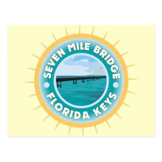 Seven Mile Bridge Florida Keys Postcard