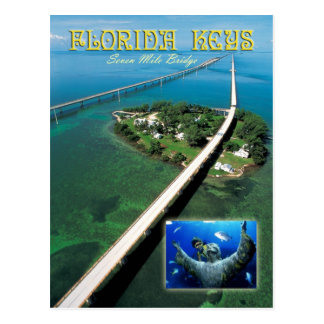 Seven Mile Bridge & Pigeon Key,  Florida Keys Postcard