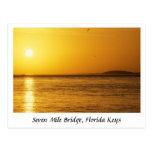 Seven Mile Bridge Sunset, Florida Keys Postcard