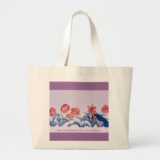 Seven Parrots, Seven Parrots,  Darlene P. Colt... Large Tote Bag