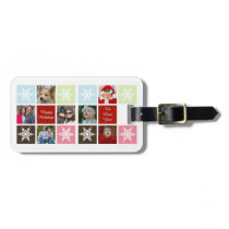 seven photos collage Mod photo luggage tag
