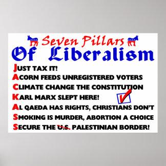 Seven Pillars Of Liberalism Poster