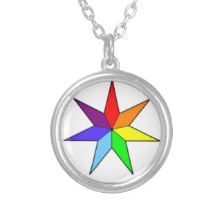 Seven-Pointed Rainbow Star Necklace