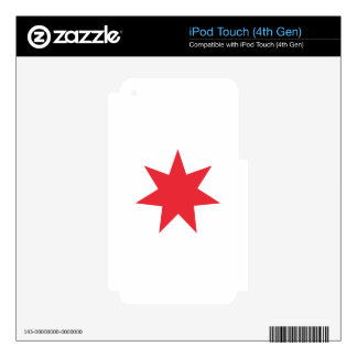 Seven Pointed Star iPod Touch 4G Decals