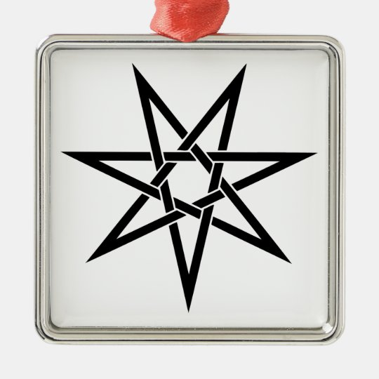 Seven Pointed Star Metal Ornament
