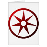 Seven Pointed Wheel Greeting Cards