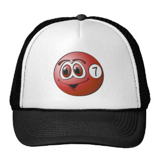 Seven Pool Ball Cartoon Mesh Hats