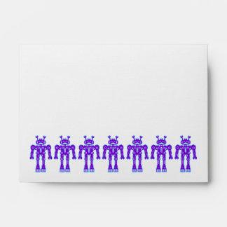 Seven Purple Robots Envelope