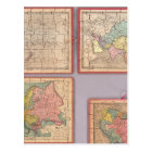 Seven Puzzle Maps of the World Postcard