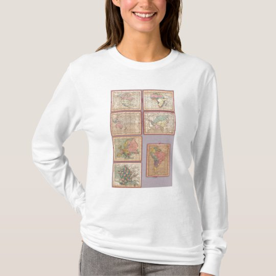 Seven Puzzle Maps of the World T-Shirt