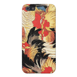 Seven Roosters, Hokusai Covers For iPhone 5