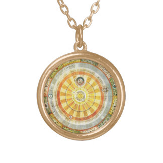SEVEN SEALS TALISMAN GOLD PLATED NECKLACE