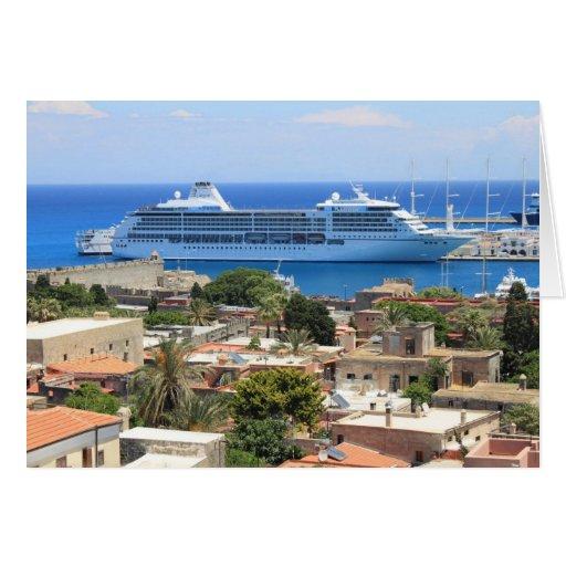 Seven Seas Mariner at Rhodes Greeting Card