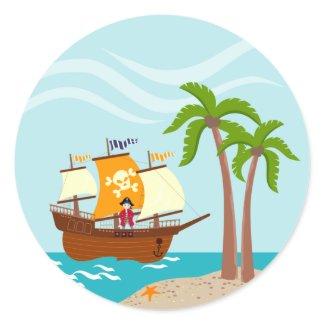 Seven seas Pirate! Sticker