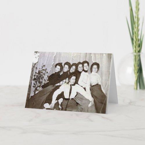 Seven Senile Friends Card