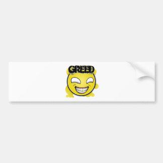 Seven Sins Faces - Greed Bumper Sticker