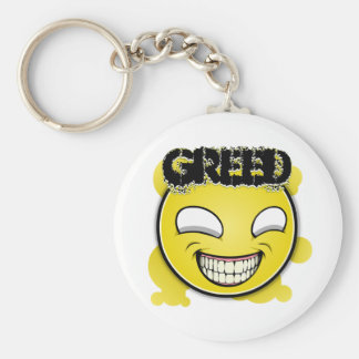 Seven Sins Faces - Greed Keychain