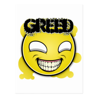 Seven Sins Faces - Greed Postcard