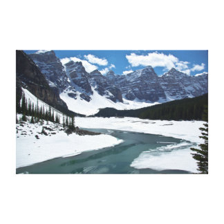 Seven Sisters and Moraine Lake in Banf,  Canada Gallery Wrapped Canvas